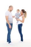 Ευτυχής οικογένεια με το μωρό Στοκ Φωτογραφία