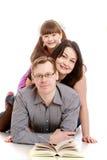 Ευτυχής οικογένεια μπαμπάδων mom Ι Στοκ φωτογραφία με δικαίωμα ελεύθερης χρήσης
