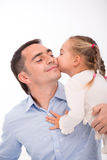 Ευτυχής οικογένεια που απομονώνεται στο άσπρο υπόβαθρο στοκ εικόνα με δικαίωμα ελεύθερης χρήσης