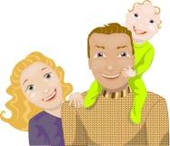 Ευτυχής οικογένεια Στοκ εικόνα με δικαίωμα ελεύθερης χρήσης
