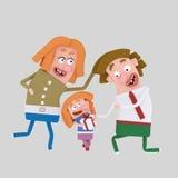 Ευτυχής οικογενειακή fatherημέρα Στοκ φωτογραφία με δικαίωμα ελεύθερης χρήσης
