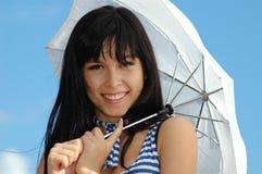 ευτυχής ομπρέλα πορτρέτο& στοκ εικόνες