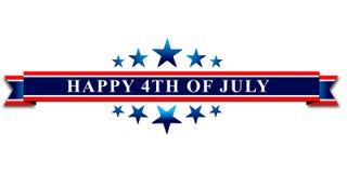 Ευτυχής 4ος ΗΠΑ της ημέρας της ανεξαρτησίας Ιουλίου στοκ εικόνα με δικαίωμα ελεύθερης χρήσης