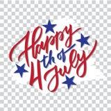 Ευτυχής 4ος του Ιουλίου - γραφή, καλλιγραφία, ελεύθερη απεικόνιση δικαιώματος