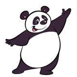 Ευτυχής παρουσίαση χαρακτήρα panda κινούμενων σχεδίων Στοκ εικόνες με δικαίωμα ελεύθερης χρήσης