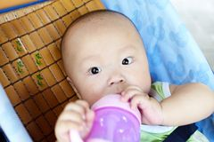 ευτυχής περιπατητής μωρών Στοκ Εικόνες
