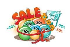 Ευτυχής πώληση: καλύτερη προσφορά Διανυσματική απεικόνιση