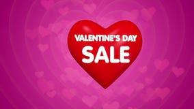 Ευτυχής πώληση τίτλου ημέρας βαλεντίνων ή έννοια προσφοράς έκπτωσης φιλμ μικρού μήκους