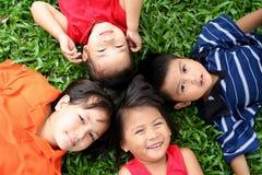 ευτυχής σειρά παιδιών Στοκ φωτογραφία με δικαίωμα ελεύθερης χρήσης