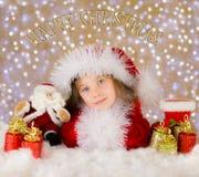 Ευτυχής σκηνή Χριστουγέννων Στοκ Εικόνες