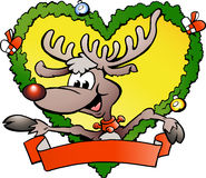 ευτυχής τάρανδος Χριστουγέννων Στοκ Εικόνα