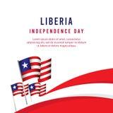 Ευτυχής της Λιβερίας ημέρας της ανεξαρτησίας εορτασμού απεικόνιση σχεδίου προτύπων αφισών διανυσματική ελεύθερη απεικόνιση δικαιώματος