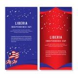 Ευτυχής της Λιβερίας ημέρας της ανεξαρτησίας εορτασμού απεικόνιση σχεδίου προτύπων αφισών διανυσματική απεικόνιση αποθεμάτων