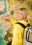 ευτυχής τουρίστας Στοκ εικόνες με δικαίωμα ελεύθερης χρήσης