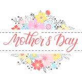 Ευτυχής τυπογραφία ημέρας μητέρων στοκ φωτογραφία με δικαίωμα ελεύθερης χρήσης