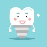 Ευτυχής υγιής χαρακτήρας μοσχευμάτων δοντιών κινούμενων σχεδίων, οδοντική διανυσματική απεικόνιση για τα παιδιά Στοκ Φωτογραφία