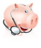Ευτυχής υγιής piggy τράπεζα Στοκ φωτογραφία με δικαίωμα ελεύθερης χρήσης
