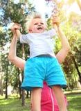 ευτυχής υπαίθριος παιδιών Στοκ Εικόνες