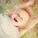 ευτυχής υπαίθριος παιδιών Στοκ φωτογραφίες με δικαίωμα ελεύθερης χρήσης