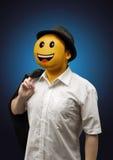 Ευτυχής υπερφυσικός επιχειρηματίας με μια συγκίνηση προσώπου χαμόγελου Στοκ Φωτογραφίες