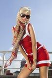 ευτυχής υψηλή γυναίκα μό&delta Στοκ Φωτογραφίες