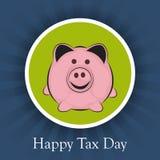 Ευτυχής φορολογική ημέρα Στοκ φωτογραφίες με δικαίωμα ελεύθερης χρήσης