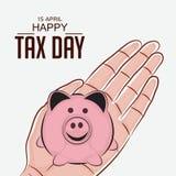 Ευτυχής φορολογική ημέρα Στοκ εικόνα με δικαίωμα ελεύθερης χρήσης