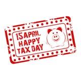 Ευτυχής φορολογική ημέρα Στοκ εικόνες με δικαίωμα ελεύθερης χρήσης