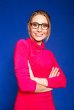 ευτυχής φορώντας γυναίκ&al Στοκ Εικόνα
