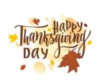 Ευτυχής φράση εγγραφής χαιρετισμού ημέρας των ευχαριστιών Σύγχρονη καλλιγραφία ελεύθερη απεικόνιση δικαιώματος