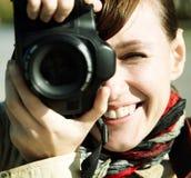 ευτυχής φωτογράφος στοκ εικόνα
