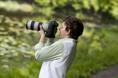 Ευτυχής φωτογράφος Στοκ Φωτογραφίες
