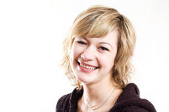 ευτυχής χαμογελώντας γυναίκα Στοκ εικόνα με δικαίωμα ελεύθερης χρήσης
