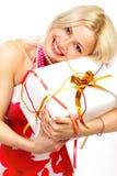ευτυχής χαμογελώντας γυναίκα Στοκ φωτογραφίες με δικαίωμα ελεύθερης χρήσης