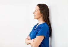 Ευτυχής χαμογελώντας μέση ηλικίας γυναίκα Στοκ Φωτογραφία