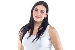Ευτυχής χαμογελώντας νέα έγκυος γυναίκα Στοκ εικόνες με δικαίωμα ελεύθερης χρήσης