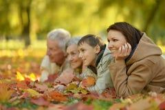 Ευτυχής χαμογελώντας οικογένεια Στοκ Εικόνα