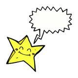 ευτυχής χαρακτήρας αστεριών κινούμενων σχεδίων με τη λεκτική φυσαλίδα Στοκ φωτογραφία με δικαίωμα ελεύθερης χρήσης
