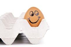 Ευτυχής χαρακτήρας αυγών Στοκ φωτογραφία με δικαίωμα ελεύθερης χρήσης