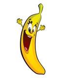 Ευτυχής χαρακτήρας μπανανών κινούμενων σχεδίων Στοκ Εικόνα