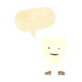 ευτυχής χαρακτήρας δοντιών κινούμενων σχεδίων με τη λεκτική φυσαλίδα Στοκ Εικόνα