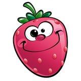 Ευτυχής χαρακτήρας φραουλών κινούμενων σχεδίων Στοκ φωτογραφία με δικαίωμα ελεύθερης χρήσης