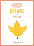 Ευτυχής χαριτωμένη κάρτα Πάσχας στο διάνυσμα Στοκ φωτογραφία με δικαίωμα ελεύθερης χρήσης