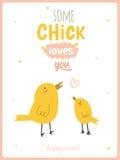Ευτυχής χαριτωμένη κάρτα Πάσχας στο διάνυσμα Στοκ εικόνα με δικαίωμα ελεύθερης χρήσης