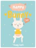 Ευτυχής χαριτωμένη κάρτα Πάσχας στο διάνυσμα Στοκ Εικόνες
