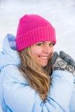 Ευτυχής χειμερινή γυναίκα Στοκ φωτογραφία με δικαίωμα ελεύθερης χρήσης