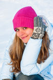 Ευτυχής χειμερινή γυναίκα Στοκ Εικόνα