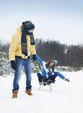 ευτυχής χειμώνας ζευγών Στοκ Εικόνα