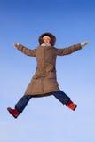 ευτυχής χειμώνας κοριτσιών Στοκ Φωτογραφίες