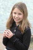 ευτυχής χελώνα παιδιών Στοκ Φωτογραφίες